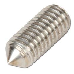 Gewindestift mit Innensechskant und Spitze - Stahl 45 H oder Edelstahl A2 - DIN