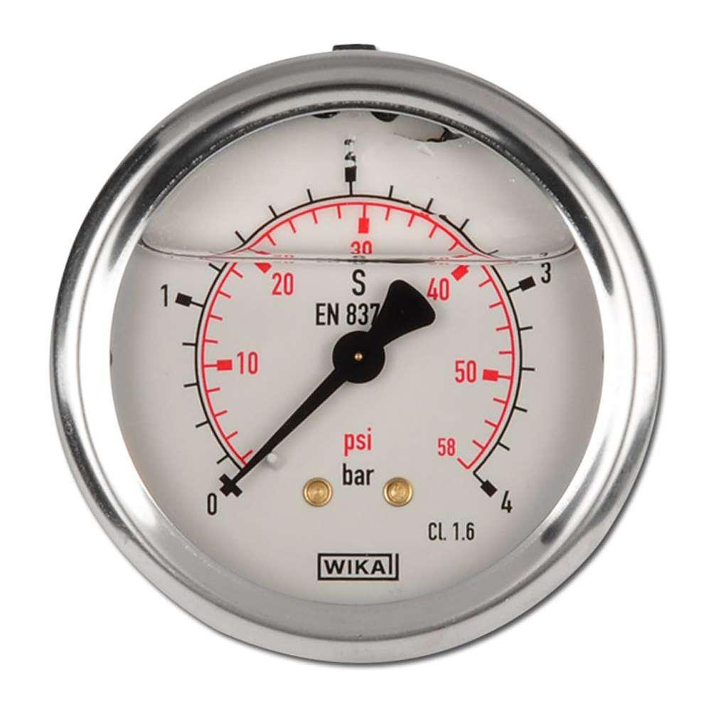 Glicerina classe manometro 1 6 63 millimetri 1 bar a - Manometro in bagno di glicerina ...
